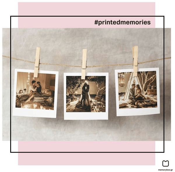 Οι φωτογραφίες polaroids είναι πιο trend απο ποτε! Δεν εχεις δικη σου μηχανή Polaroid? Κανένα πρόβλημα! Στο memorybox.gr μπορείς να διαλέξεις τις αγαπημένες σου φωτογραφίες σε ψηφιακή μορφή και να τις εκτυπώσεις σε χαρτί polaroid!